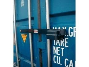 Låsebom til container
