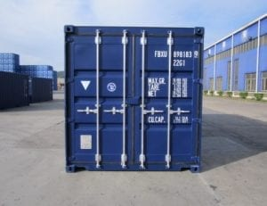 Blå 20 fods container
