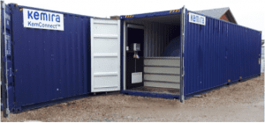 Container med lagertanke